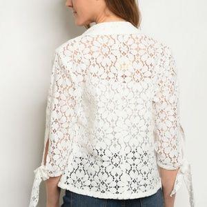 Jackets Coats White Crochet Jacket Poshmark